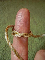 string on finger