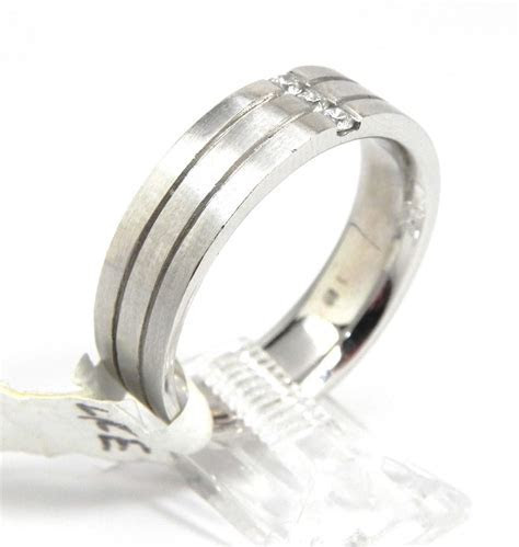 Men's 14k White Gold Channel Set Diamonds Wedding Band