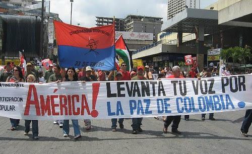 Marcha Caracas contra el paramilitarismo y por la Paz y el Acuerdo Humanitario