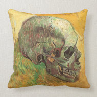 Skull by Vincent van Gogh throwpillow