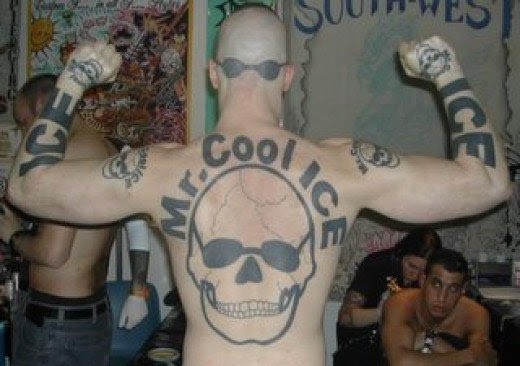 """of """"surgeons"""" opening shop to remove the once awesome Tattoo that looked"""