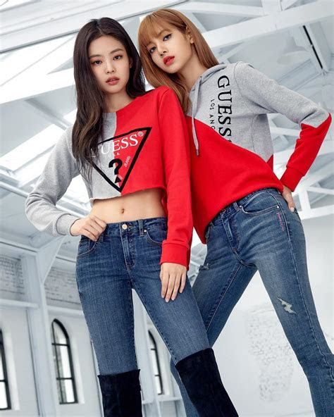 lotteshopping update guess  jenlisa blackpink
