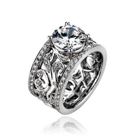 QUICK OVERVIEW Ladies 18k White Gold Wide Band Style