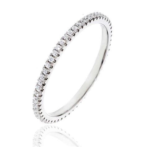 Sterling Silver Cubic Zirconia Eternity Women Jewelry