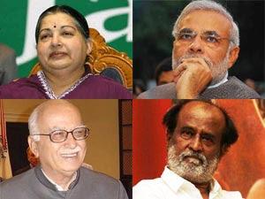 Jaya, Modi, Advani and Rajini