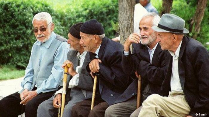 Iran alte Menschen Rente (Tamin)