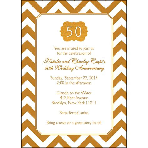 personalized  wedding anniversary party invitations