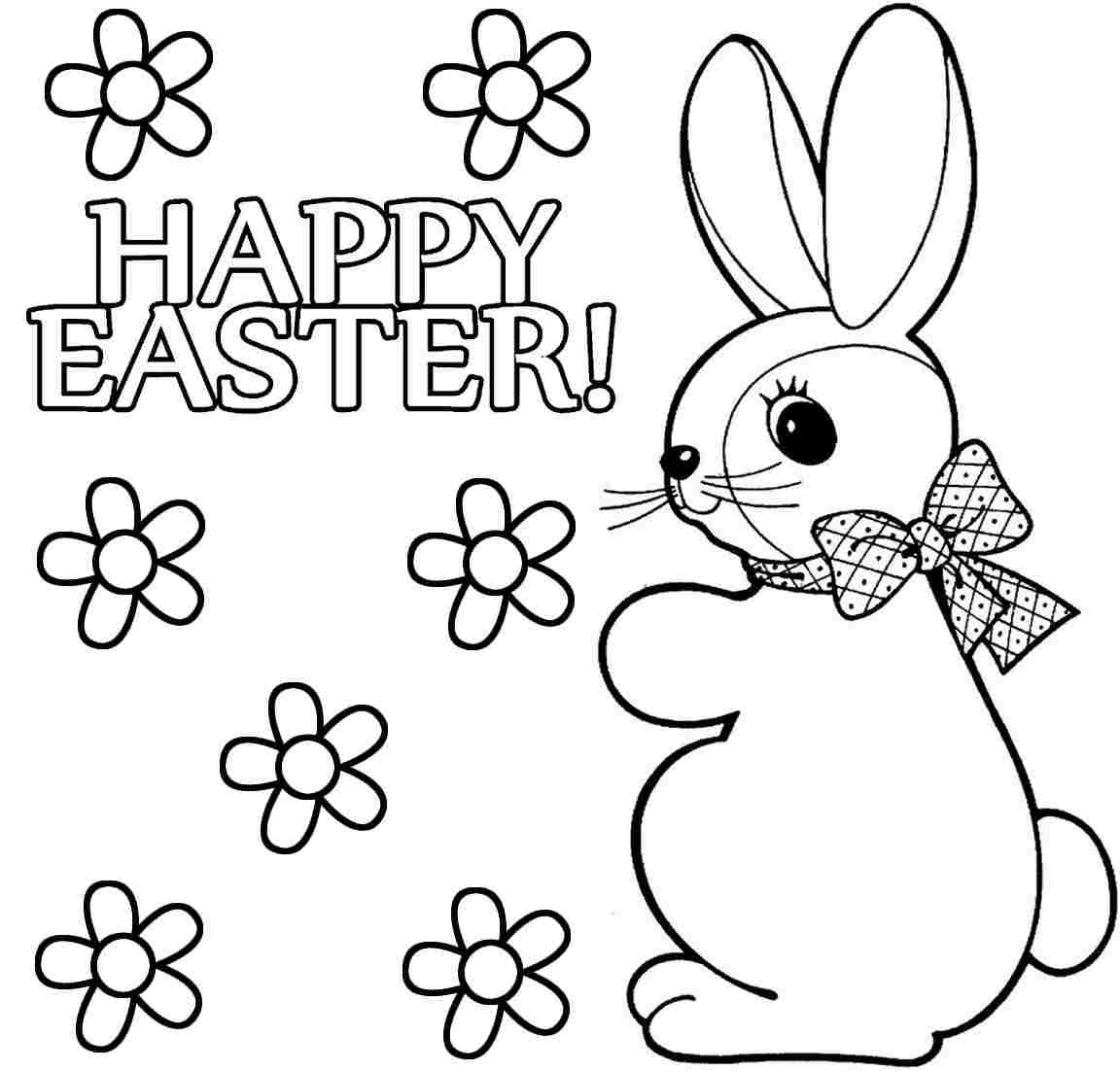Easter bunny coloring pages to print to download and print ...