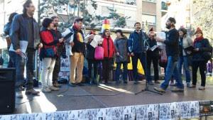 Una actuación del Coro Libertario de Torrero. Foto: @igoiz17