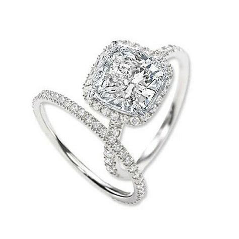 3.00 Ct. Cushion Cut Halo Round Diamond Engagement Bridal