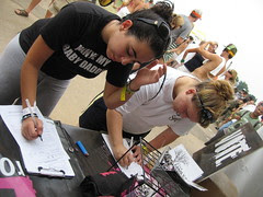 Virgin fans register to vote in the Lokahi booth