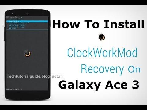 SAMSUNG ACE 3 LTE CLOCK WORK MOD RECOVERY
