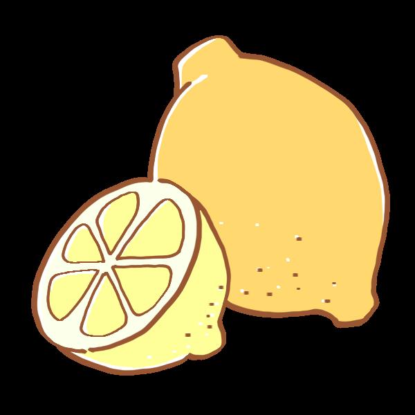 レモンのイラスト かわいいフリー素材が無料のイラストレイン