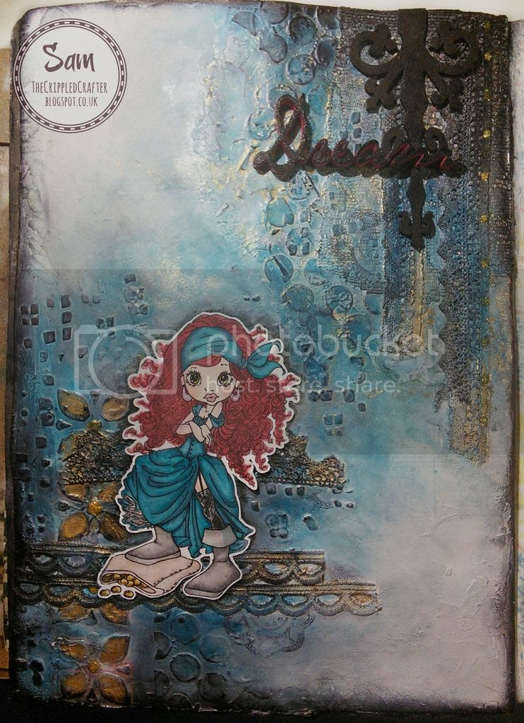 Dream - an art journal page by The Crippled Crafter