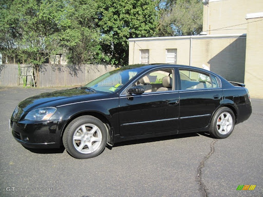 2005 Nissan Altima 3 5 Sl Super Black Color Blond Interior 2005