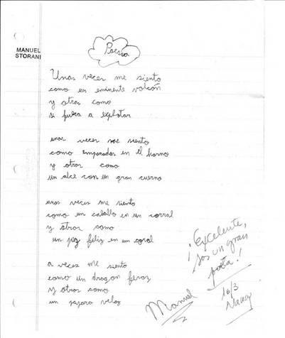 Poesía Manuel Storani