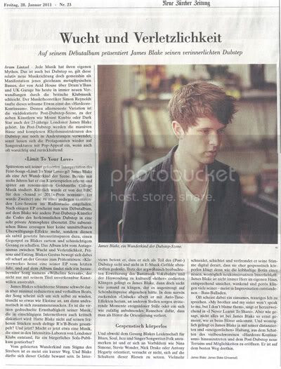 James Blake Article