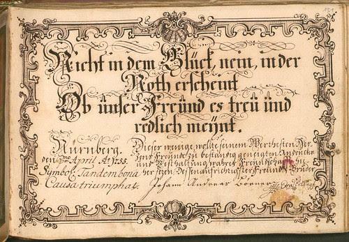 Liber Amicorum - Johann Christian Sigmund Mönch n