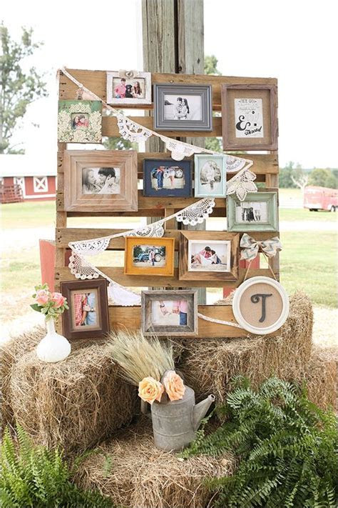 picture wall reception decor, rustic, diy, sweet   WEDDING