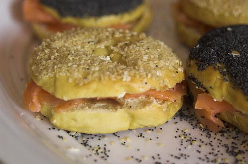 Smoked salmon & cream cheese bagels