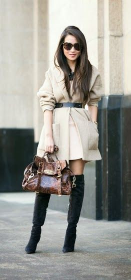 Oversized Belted Coat   Lepord Bag / Best LoLus Street Fashion