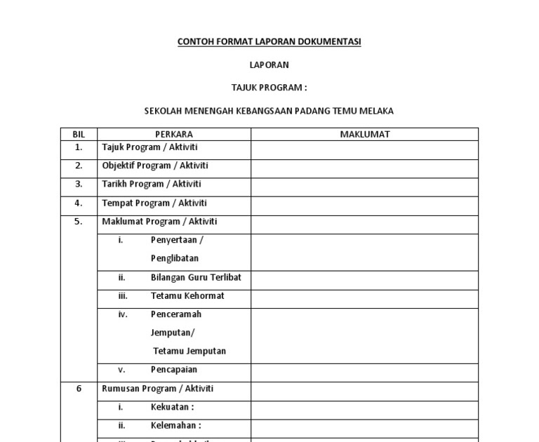 Contoh Laporan Dialog Prestasi Sekolah Surat 31
