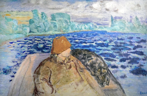 Pierre Bonnard-In a Rowing Boat (by BoFransson)
