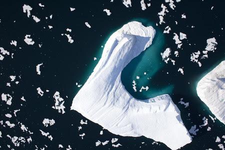 Foto realizada en el 2009 por Greenpeace del glaciar Petermann.