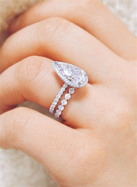 Eternal love. This stunning platinum pear shaped