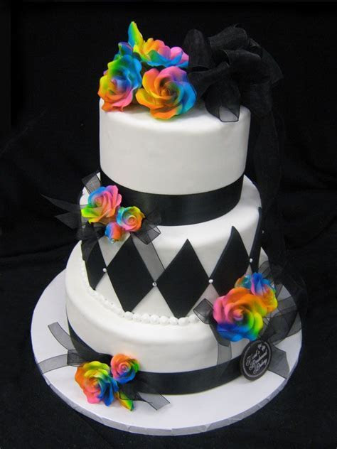 Best 25  Rainbow wedding cakes ideas on Pinterest