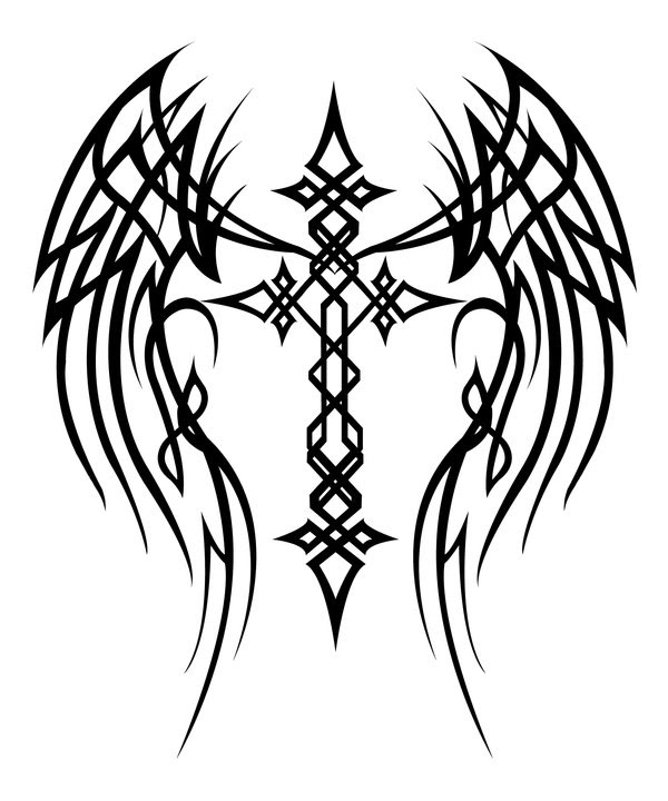 Drawings Of Crosses With Wings Free Download Best Drawings Of