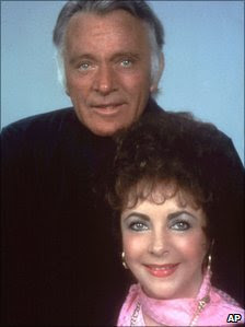 Richard Burton and Elizabeth Taylor in 1983