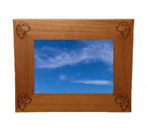 Engraved Wood Picture Frame Golden Retriever Designs Horse Smarts