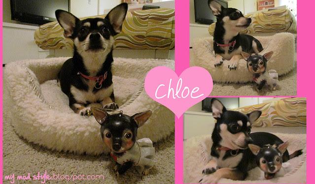 Chloe w-Her Ornament