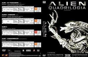 Capa DVD Alien Quadrilogia