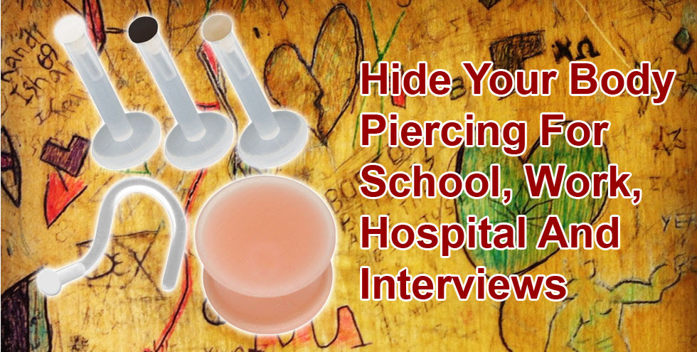 Hide Your Piercing Body Piercing Retainers And Hider Jewellery