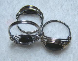 3 Herringbone Weave Rings