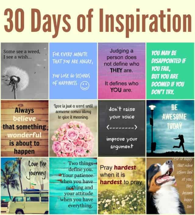 30 Days Of Inspirational Quotes And Images Linneyville
