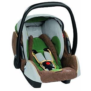 Storchenmühle 5513.10904.66 - Twin 0+ - Autokindersitz / Babyschale Gruppe 0+ (bis 13 kg) ab der Geburt bis ca. 15 Monate,Farbe green-forest