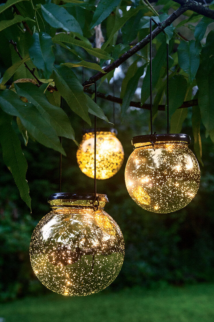 Solar Globe Lights Fairy Dust Ball  Gardeners.com