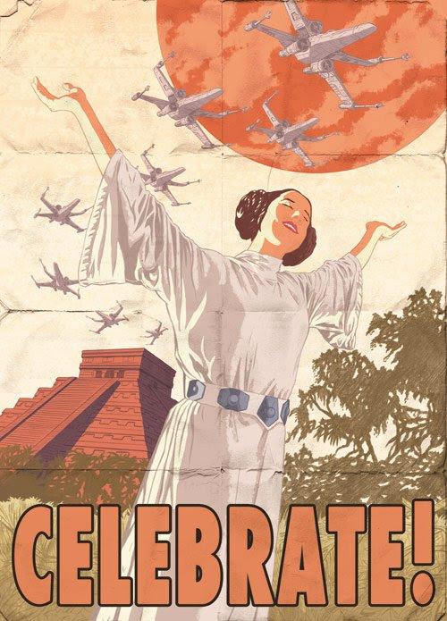 Celebrate the Rebel Alliance Propaganda Poster