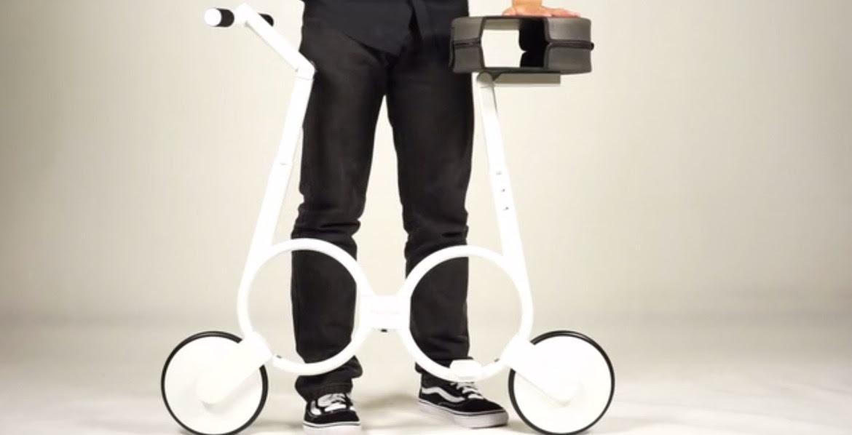Impossible bike, sepeda lipat listrik yg bisa dimasukin tas...