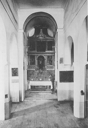 Interior de la Iglesia de San Lucas de Toledo a principios del siglo XX. Archivo Rodríguez