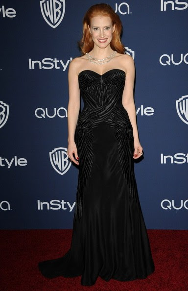 Jessica Chastain - Arrivals at the InStyle/Warner Bros. Golden Globes Party