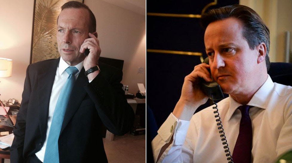 Abbott's phonecall photo parodied