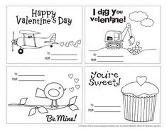valentine cards to print. I used these last year, we punched holes ...