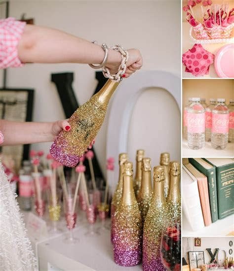 Girlfriend Get Together Idea, a Sparkly Pink and Gold