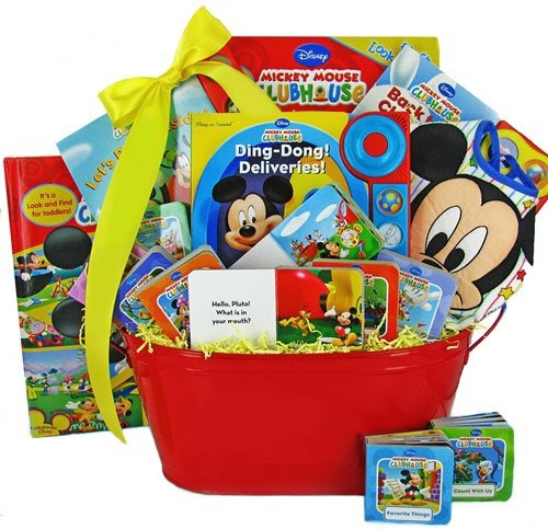 Mickey Mouse Baby Bedding: Mickey Mouse Book Basket