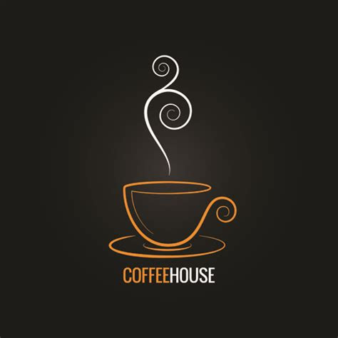 vector coffee menu logo design  vector logo