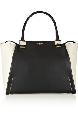 Lanvin Trilogy Leather Shopper